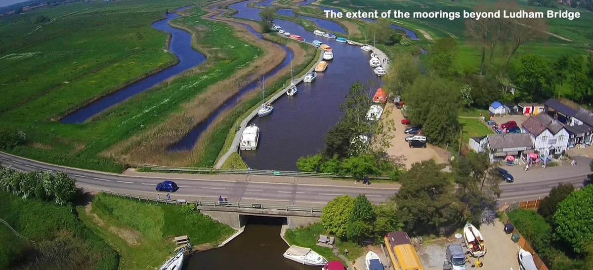 Moorings at Ludham Bridge
