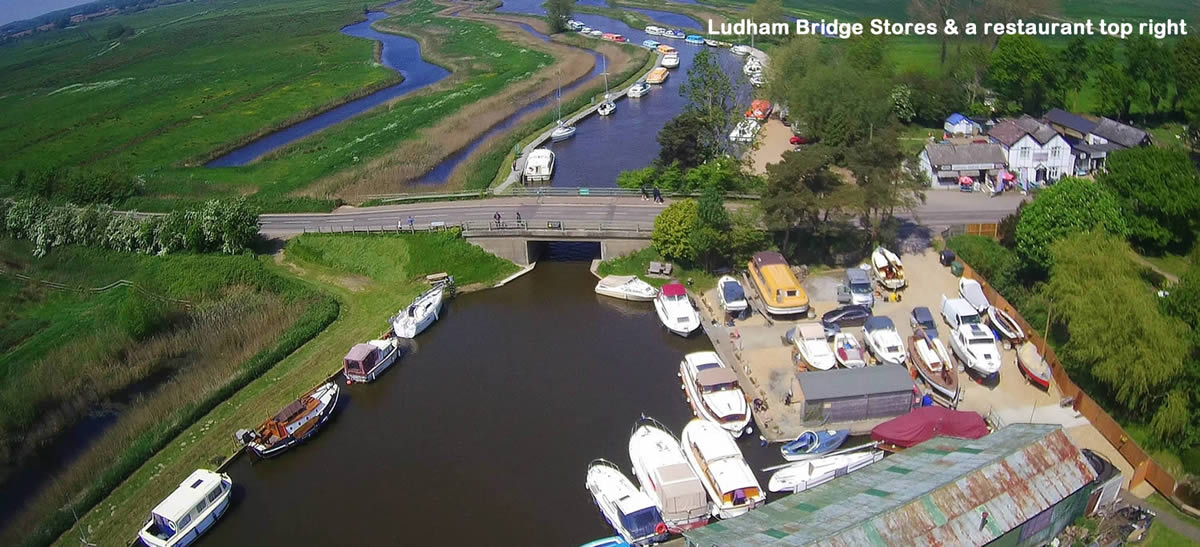 Stores and restaurant at Ludham Bridge