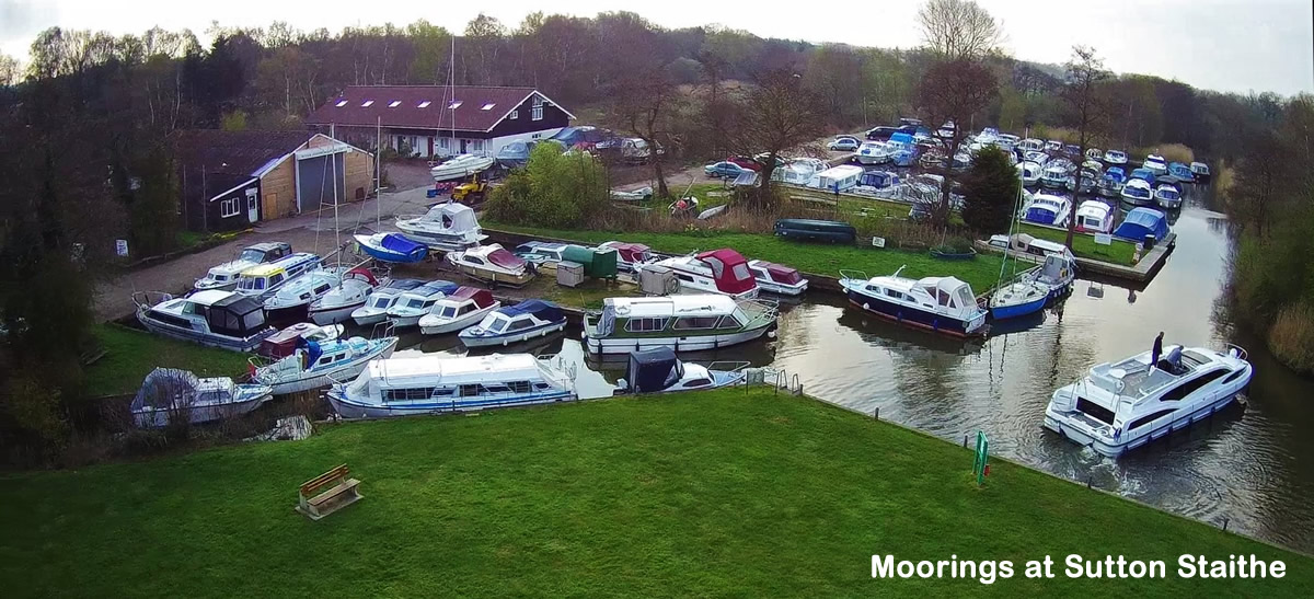 The moorings at Sutton Staithe