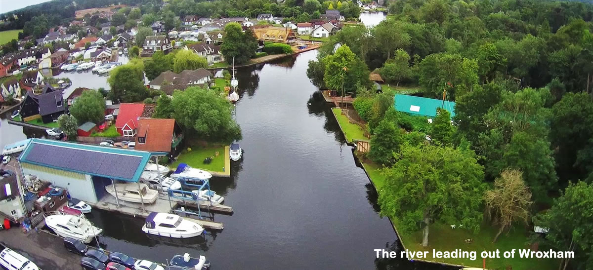 River Bure leaving Wroxham